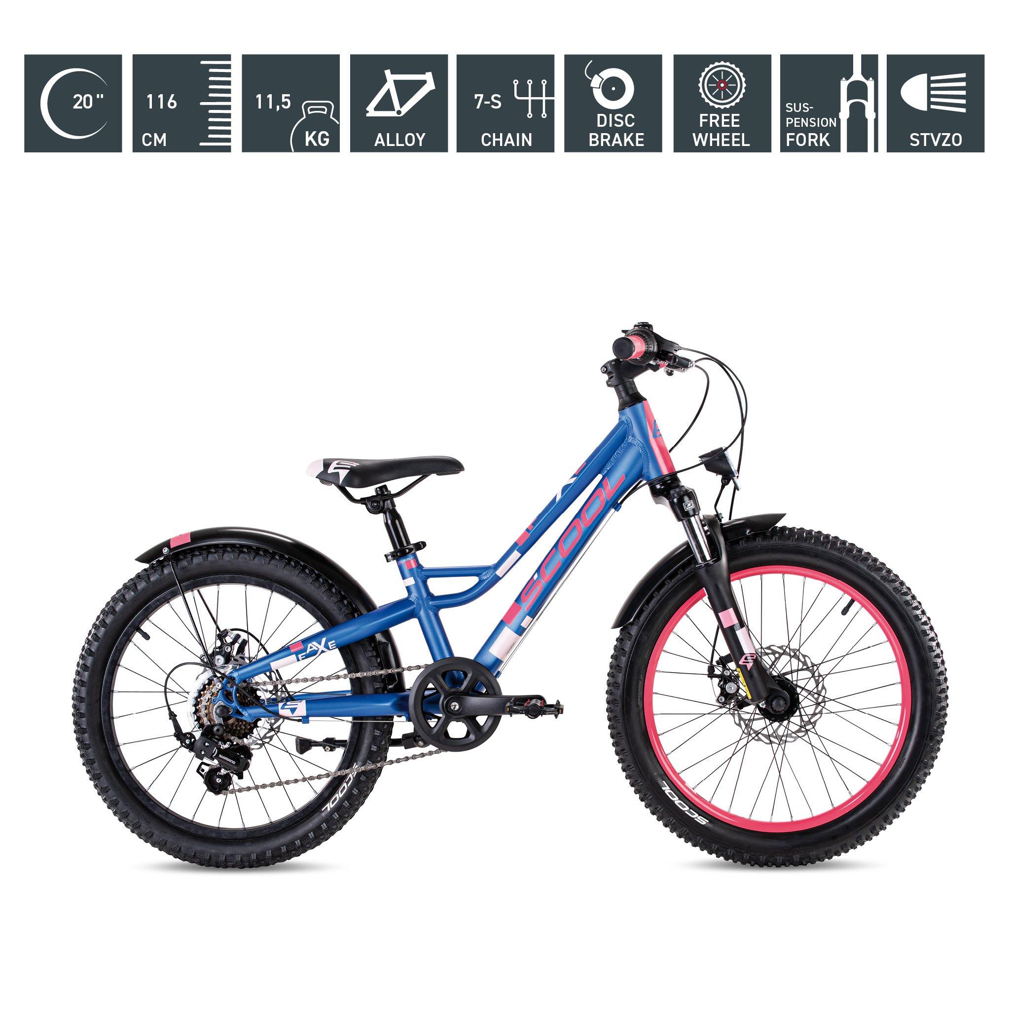 S'COOL faXe 20 Zoll 7-Gang blue-pink-matt
