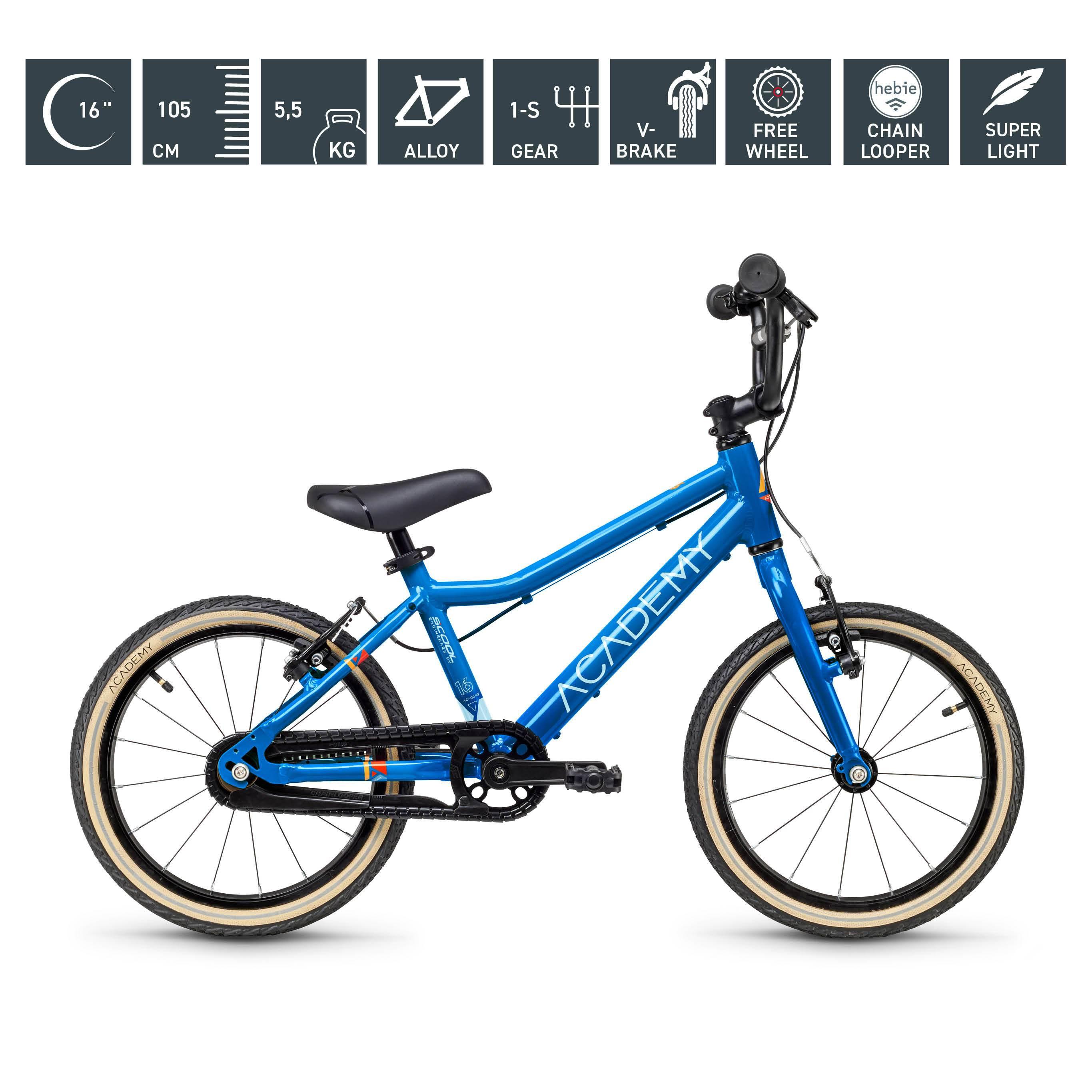 S`COOL  ACADEMY 16 Zoll - Grade 3 - 1-Gang - blau