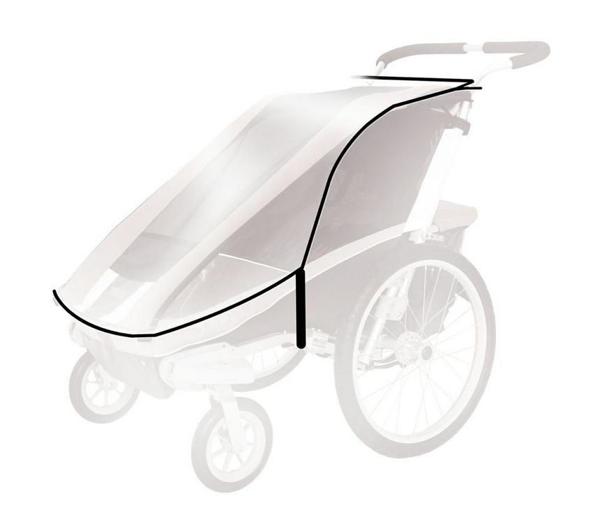 Thule Chariot Regenverdeck für Corsaire 2